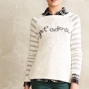 Moth (Anthropologie)Je T'Adore (Jet Adore) Sweater